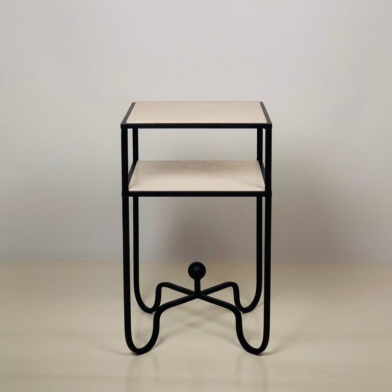 Modern 2-Tier Entretoise Side Table by Design Frères For Sale