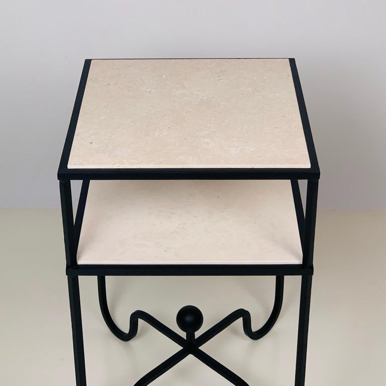 European 2-Tier Entretoise Side Table by Design Frères For Sale