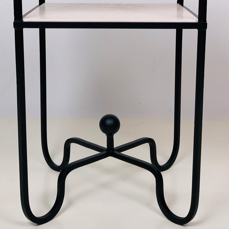 Polished 2-Tier Entretoise Side Table by Design Frères For Sale