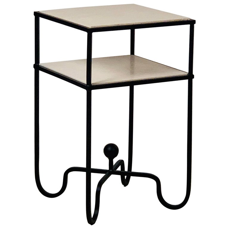 2-Tier Entretoise Side Table by Design Frères For Sale