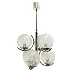 2 Tiered Richard Essig 6-Arm Space Age Chandelier, 1970s, Germany