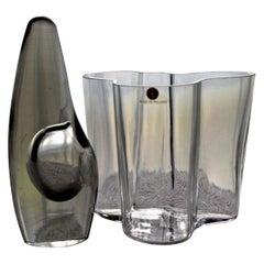 "Alvar Aalto ""Savoy"" & Timo Sarpaneva ""Orkidea"" Ittala Vases"