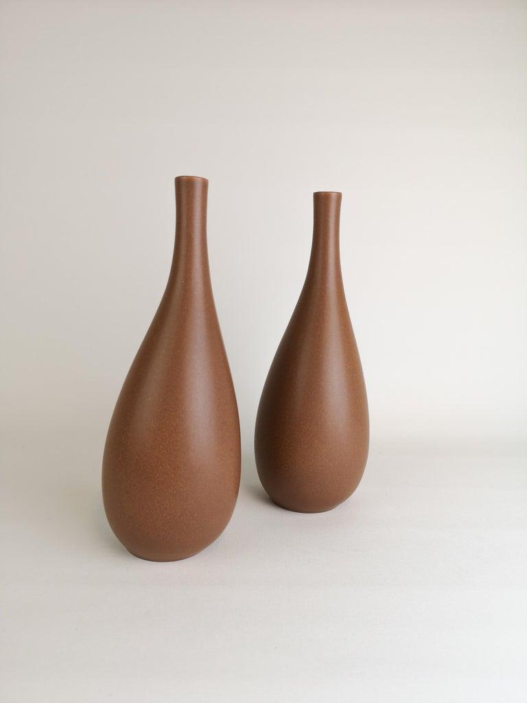 Swedish 2 Vases Vitrin Gustavsberg Stig Lindberg, Sweden For Sale