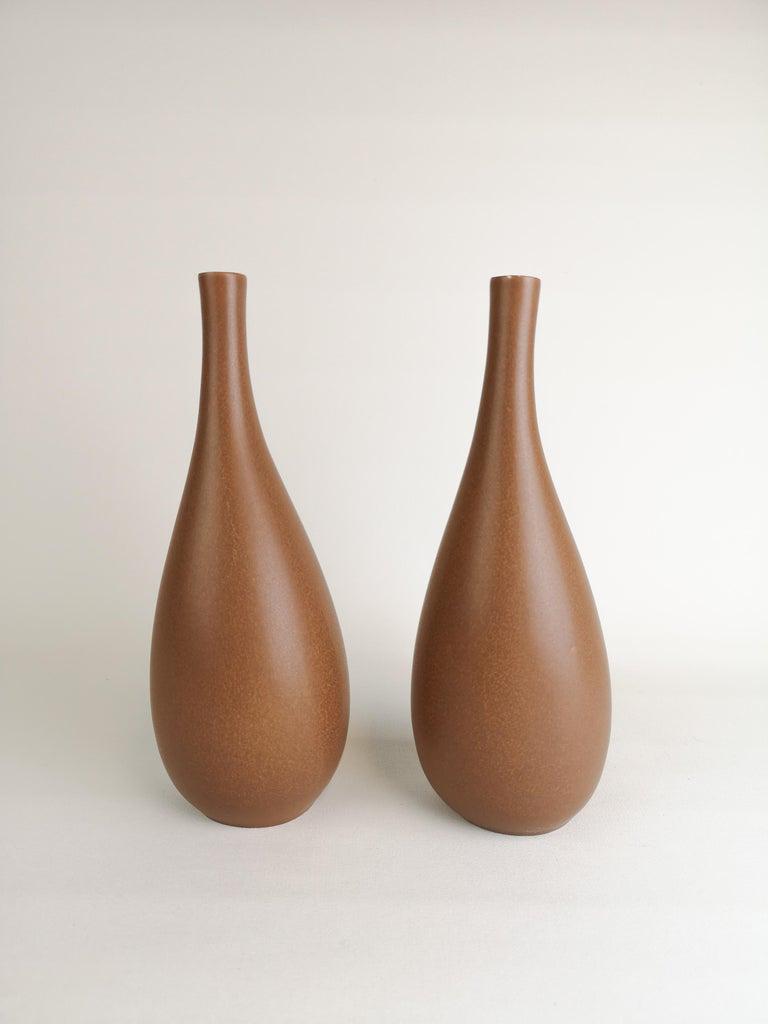 Mid-20th Century 2 Vases Vitrin Gustavsberg Stig Lindberg, Sweden For Sale