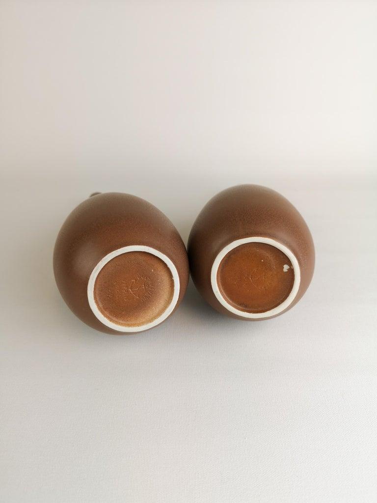 2 Vases Vitrin Gustavsberg Stig Lindberg, Sweden For Sale 2