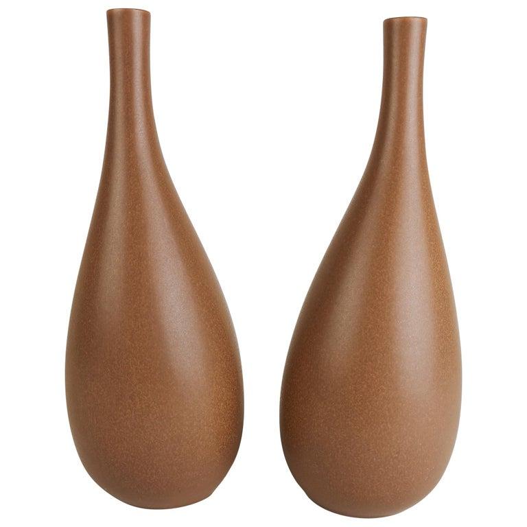 2 Vases Vitrin Gustavsberg Stig Lindberg, Sweden For Sale