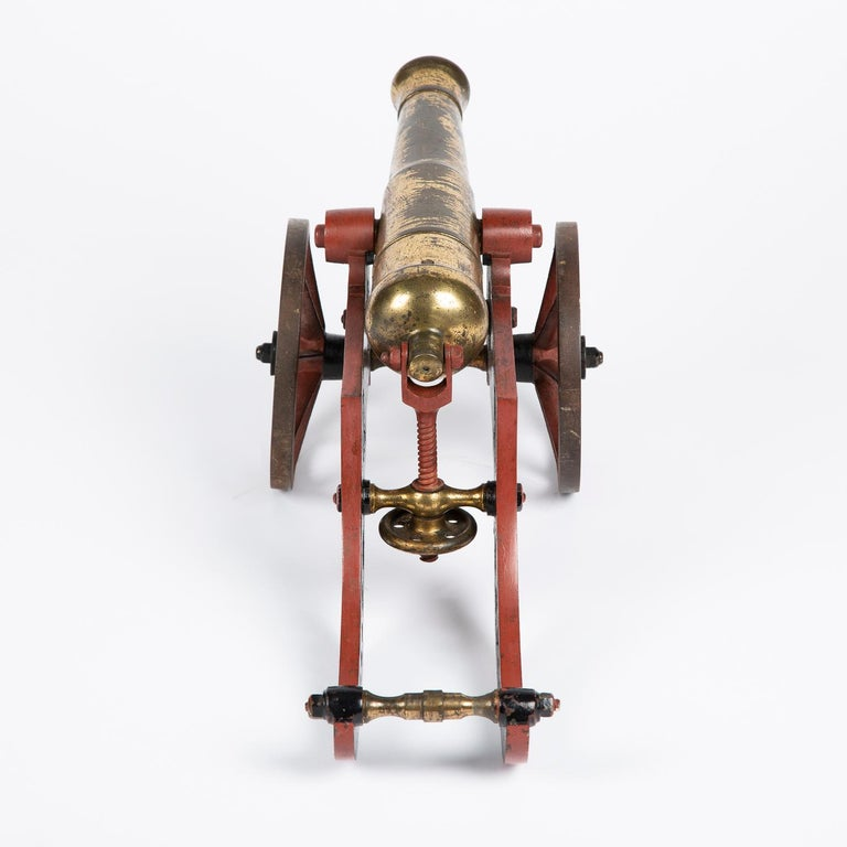 2 Victorian Bronze and Iron Table Cannon For Sale 7