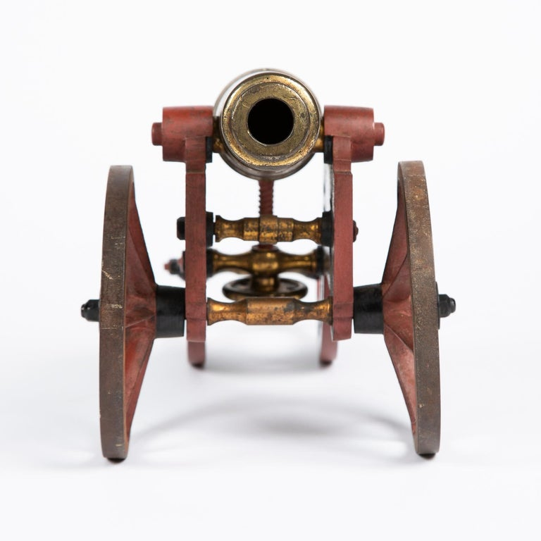 2 Victorian Bronze and Iron Table Cannon For Sale 8