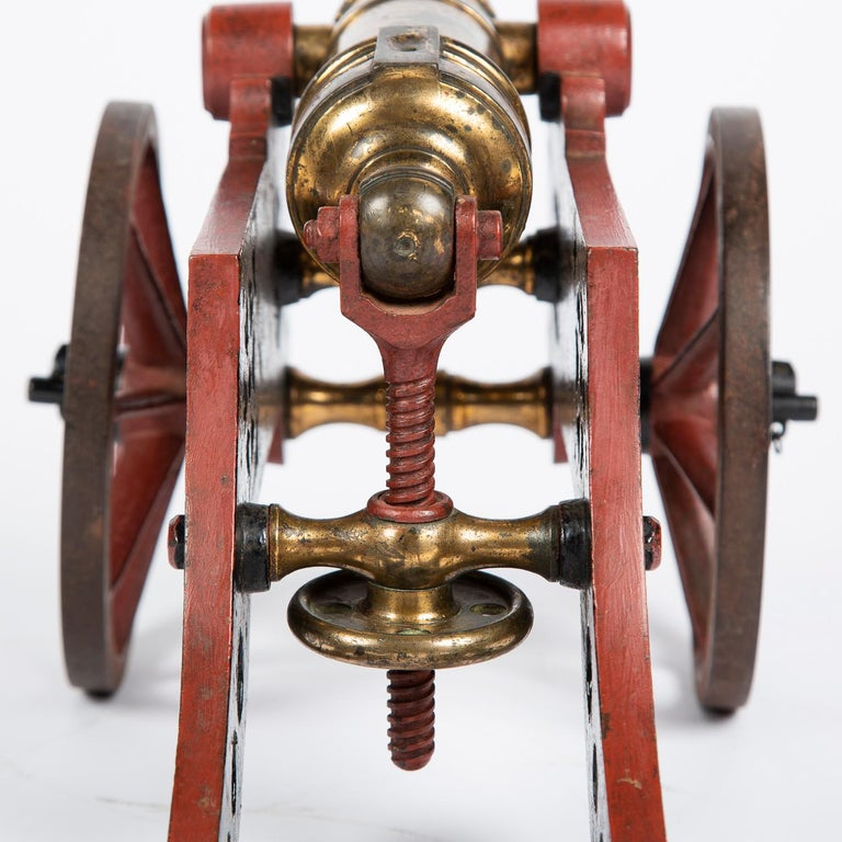 2 Victorian Bronze and Iron Table Cannon For Sale 11