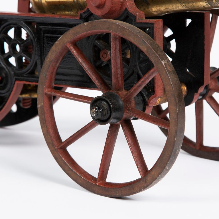 2 Victorian Bronze and Iron Table Cannon For Sale 1