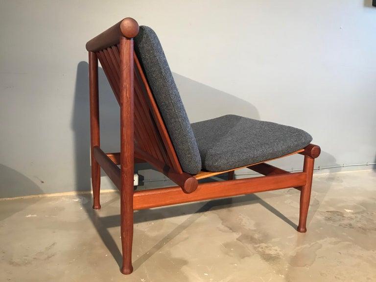 2 Vintage Teak Kai Lyngfeldt Larsen Easy Chairs Model 501 by Søborg Furniture For Sale 8