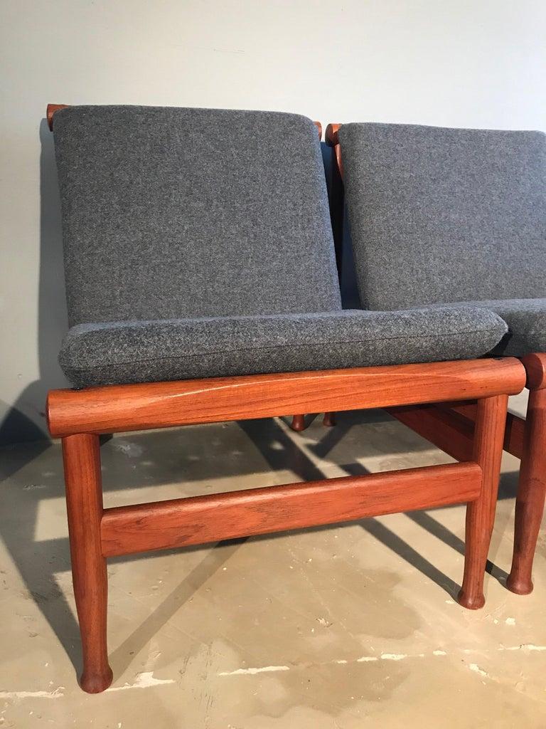 2 Vintage Teak Kai Lyngfeldt Larsen Easy Chairs Model 501 by Søborg Furniture For Sale 10