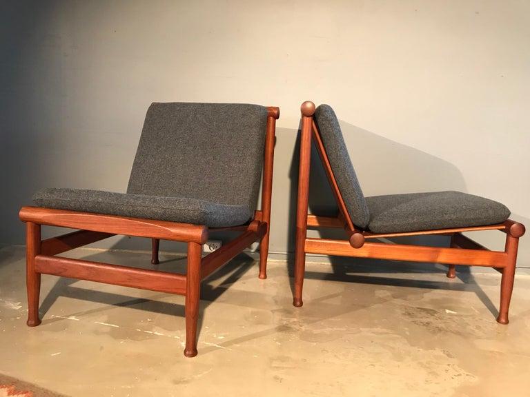 2 Vintage Teak Kai Lyngfeldt Larsen Easy Chairs Model 501 by Søborg Furniture For Sale 13