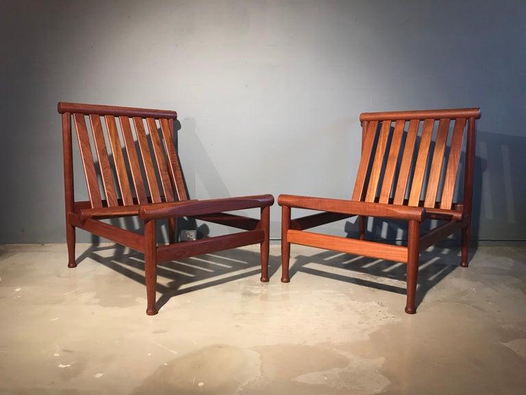 Mid-Century Modern 2 Vintage Teak Kai Lyngfeldt Larsen Easy Chairs Model 501 by Søborg Furniture For Sale