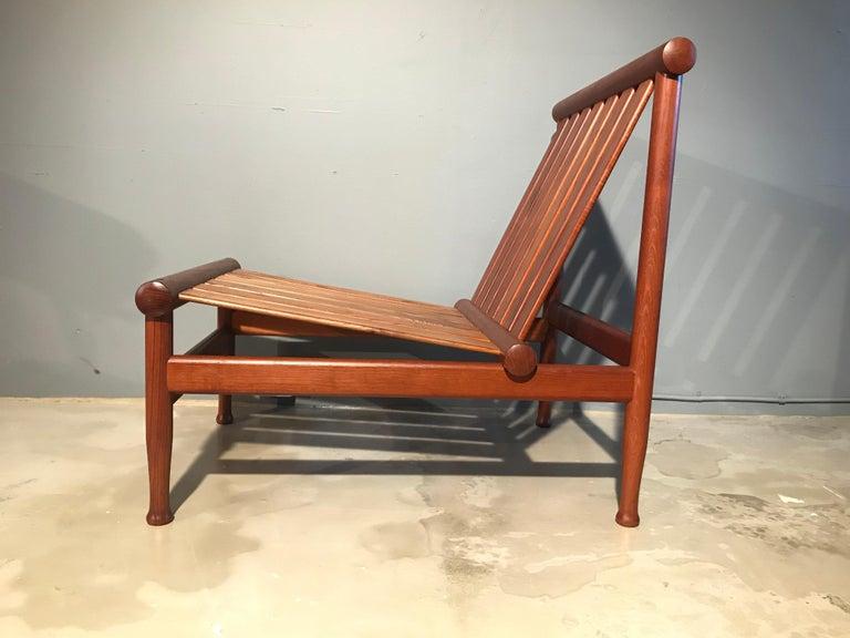 Hand-Crafted 2 Vintage Teak Kai Lyngfeldt Larsen Easy Chairs Model 501 by Søborg Furniture For Sale
