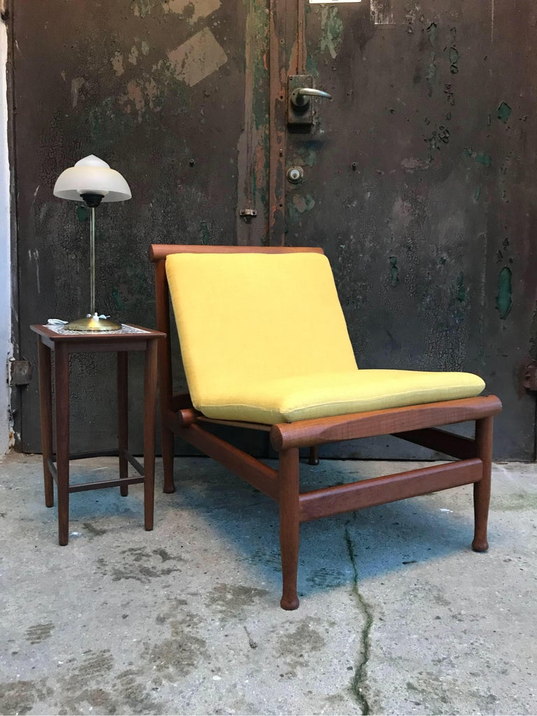 Mid-20th Century 2 Vintage Teak Kai Lyngfeldt Larsen Easy Chairs Model 501 by Søborg Furniture For Sale