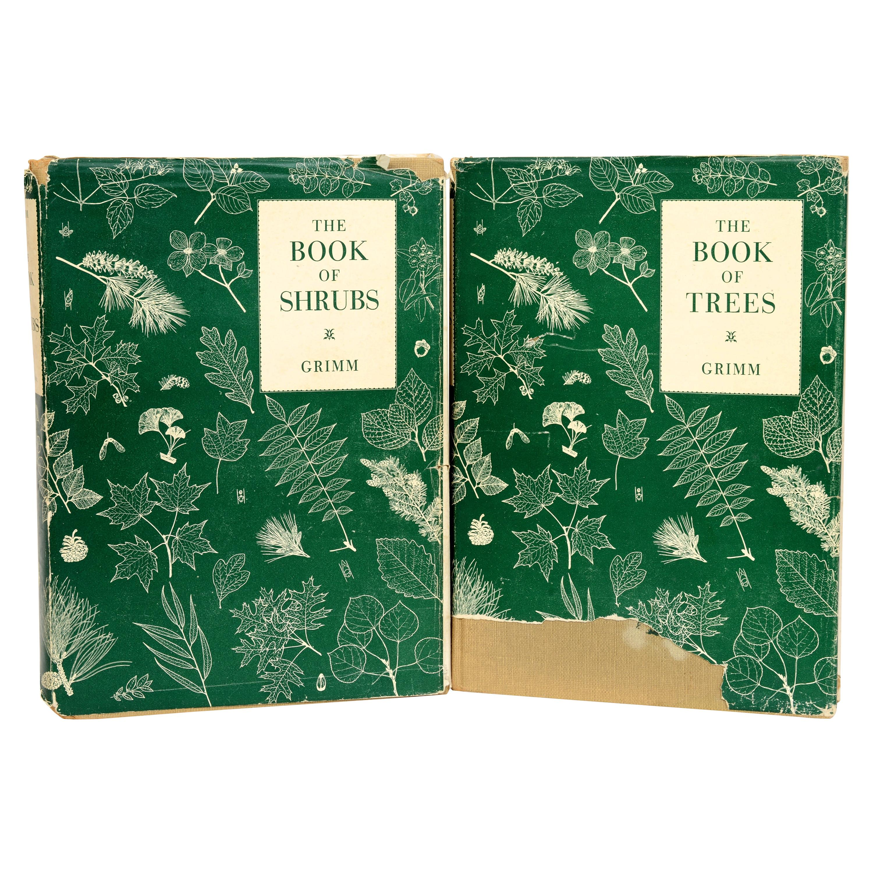 2 Volume Set: Book of Trees and Book of Shrubs, by William Carey Grimm, 1st Ed