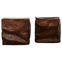 2 Wood/Leather Trunks