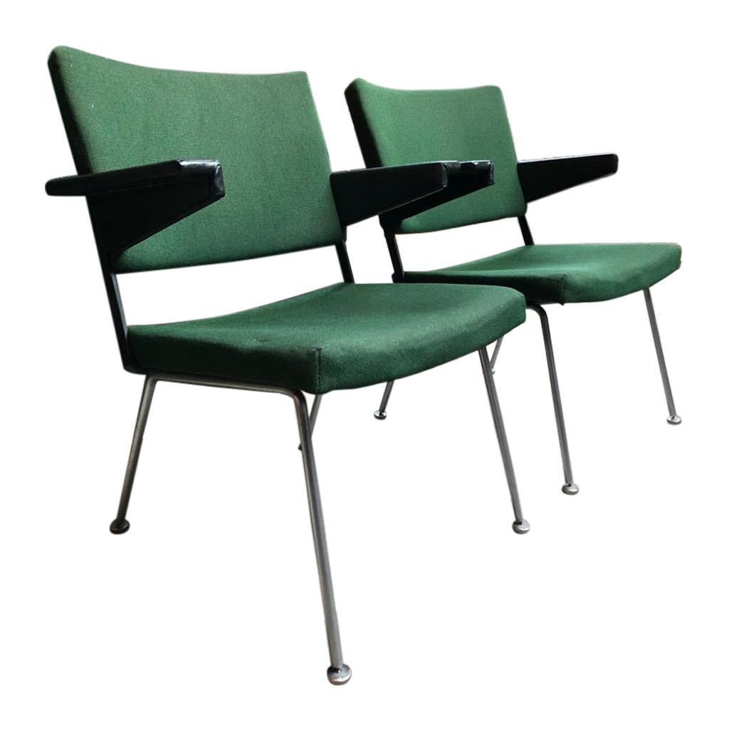 2 x Gispen No.1286 Lounge Chair by Cordemeijer, 1960's, Netherlands