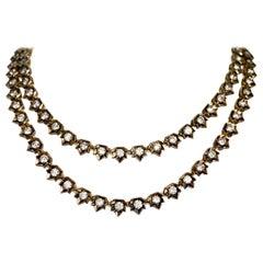 20 Carat Antique Edwardian Style Rivera Necklace with Diamonds