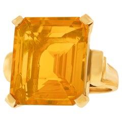 18.5 Carat Citrine Ring