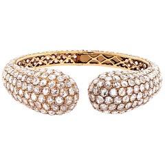 20 Carat Rose-Cut Diamond Bangle