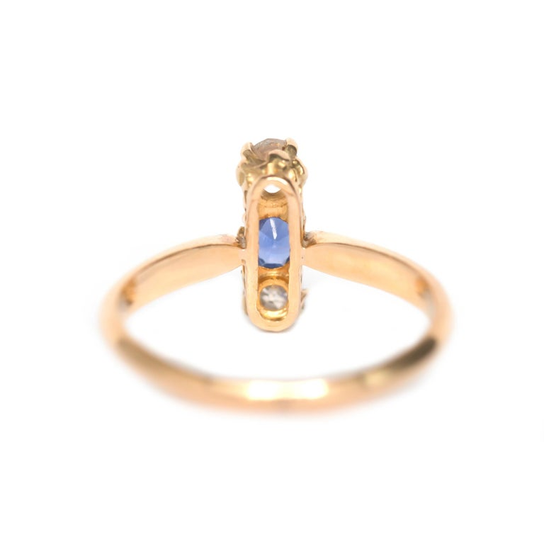.20 Carat Sapphire Yellow Gold Engagement Ring In Good Condition For Sale In Hicksville, NY