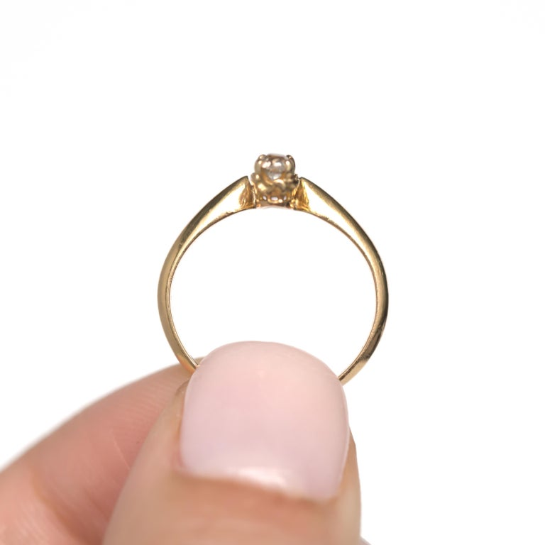 .20 Carat Sapphire Yellow Gold Engagement Ring For Sale 1