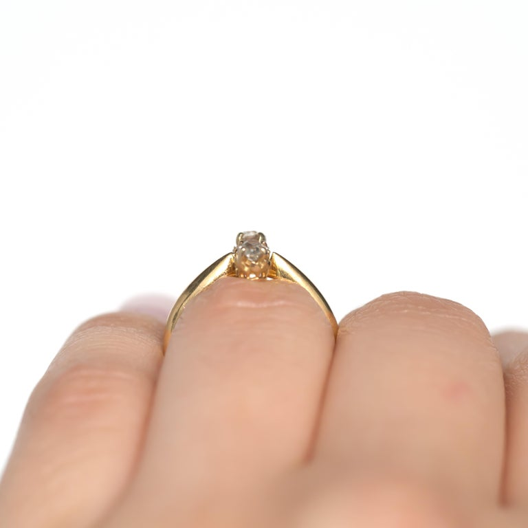 .20 Carat Sapphire Yellow Gold Engagement Ring For Sale 4