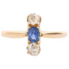 .20 Carat Sapphire Yellow Gold Engagement Ring