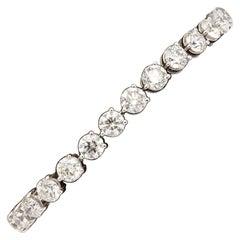 20 Carat Three Prong Diamond Tennis Bracelet