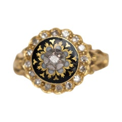 .20 Carat Total Weight Diamond Yellow Gold Engagement Ring