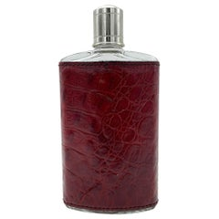 20th Century Crocodile Leather Flask, Italy