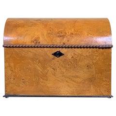 20th Century Domed Walnut Box