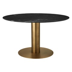2.0 Dining Table, Round, Brass Base, Laminate