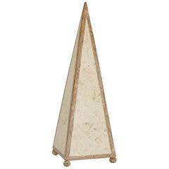 20 in. Decorative Tessellated Stone Pyramid, 1990s