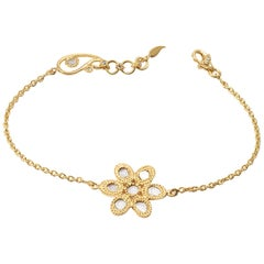 20 Karat Diamond Flower Bracelet