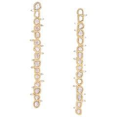 20 Karat Diamond Row Earrings