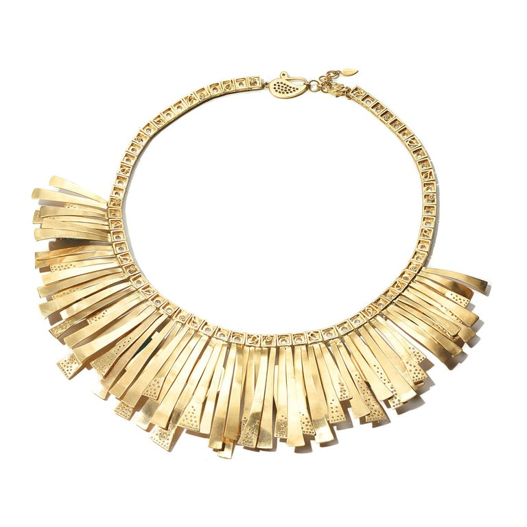 20K Coomi X Muzo Sunburst Necklace with 41.29cts emerald and 7.71cts diamond