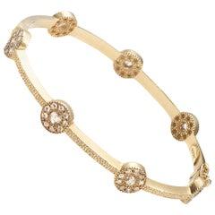 20 Karat Opera Diamond Bangle Bracelet