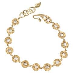 20 Karat Opera Diamond Link Bracelet