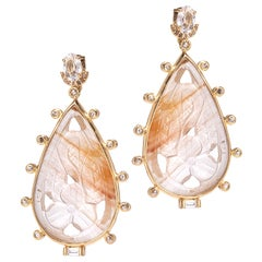 20 Karat Rutilated Quartz Earrings