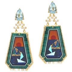 20 Karat Sunset Statement Earrings