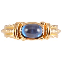 20 Karat Yellow Gold Blue Sapphire Ring by Tiana Wages
