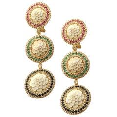 20 Karat Yellow Gold Bone Drop, Earrings