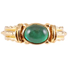 20 Karat Yellow Gold Emerald Ring by Tiana Wages