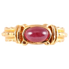 20 Karat Yellow Gold Ruby Ring by Tiana Wages