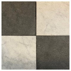 Black and White Marble Checkerboard Flooring
