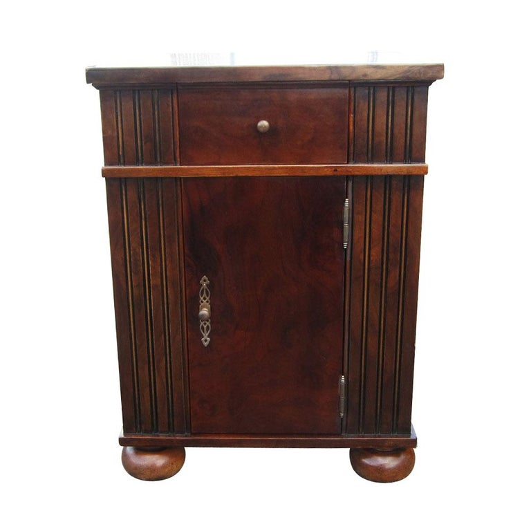 American Craftsman Vintage Burl Wood Night Stands by Scott Thomas Furniture For Sale