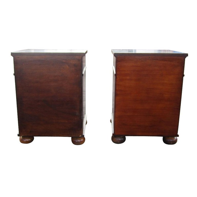 American Vintage Burl Wood Night Stands by Scott Thomas Furniture For Sale